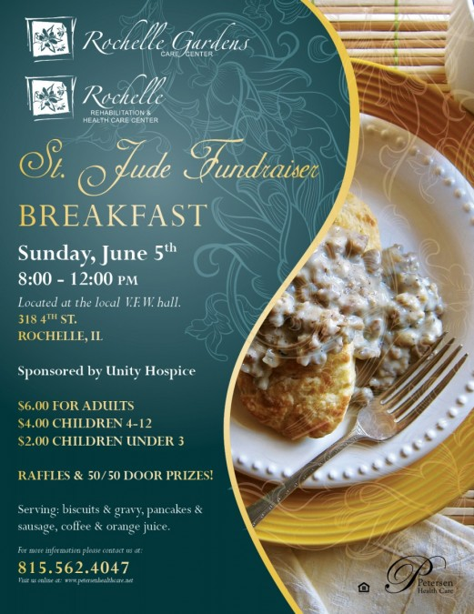 100 of the proceeds raised at the breakfast will benefit the st jude childrens