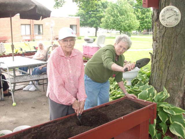 Gardening at Laharpe Davier