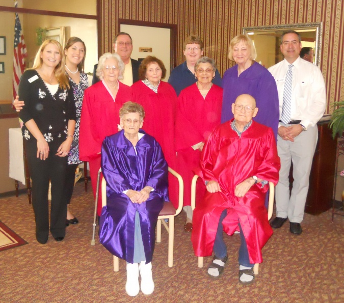 5th graduation at Rochelle Rehabilitation >and Health Care Center. The Mayor of Rochelle joined us he is the guy >to the left of the picture